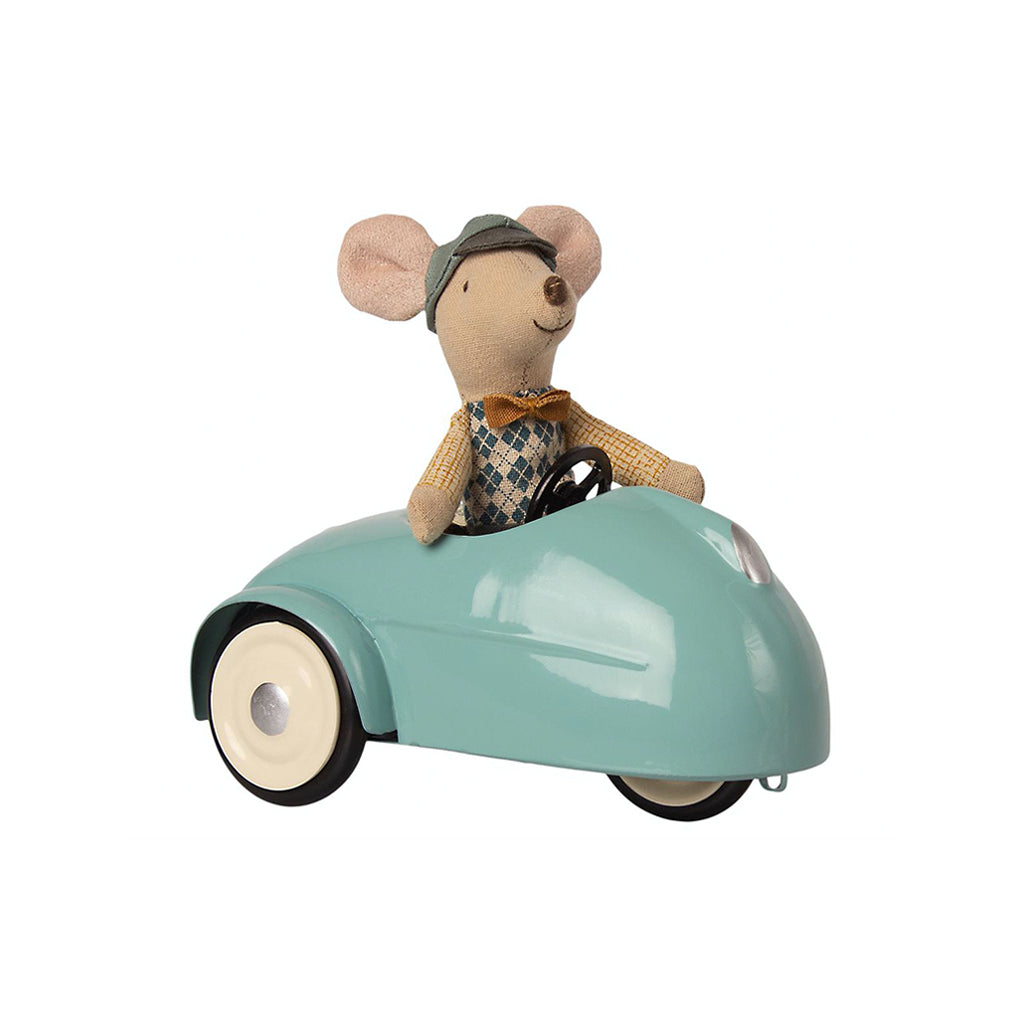 Maileg Mouse Car with Garage - Blue - 3