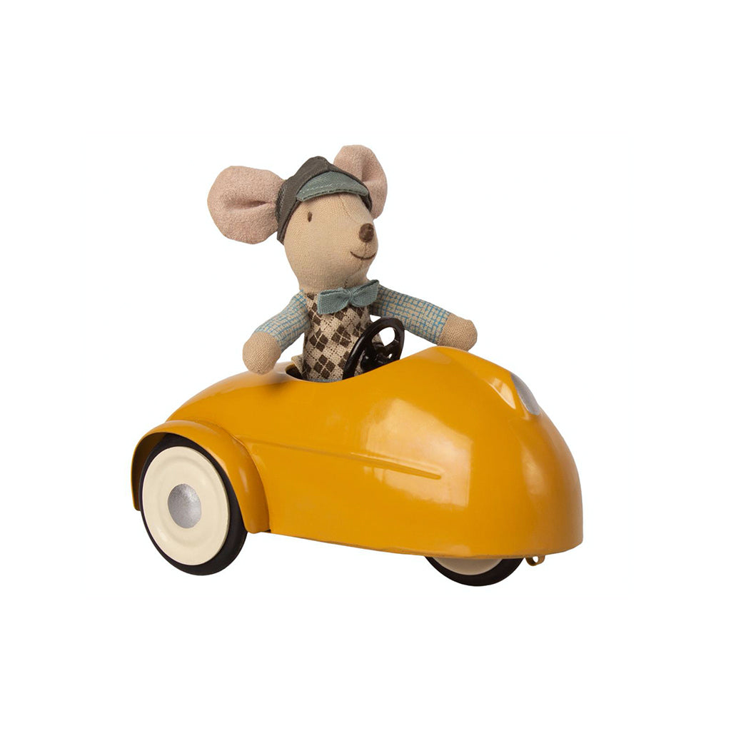 Maileg Mouse Car with Garage - Yellow - 3