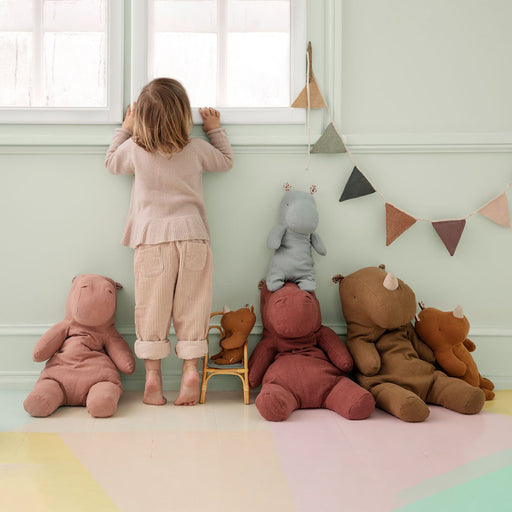 Maileg Safari Friend Small Hippo - Dusty Rose - 2