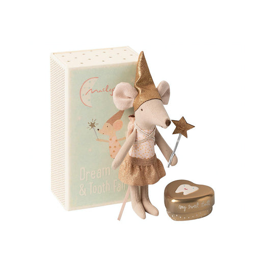 Maileg Tooth Fairy Big Sister Mouse With Box - Gold