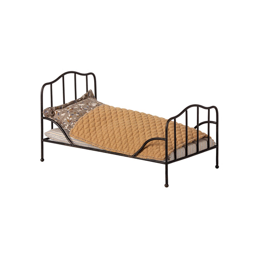 Maileg Vintage Bed Mini - Anthracite - 1