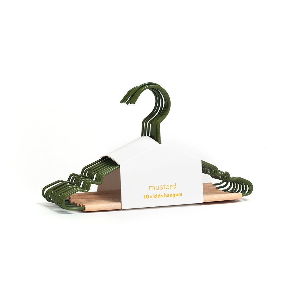 Mustard Made Kids Top Hangers - Olive - 1