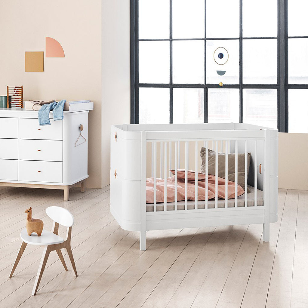 Oliver Furniture Wood Mini+ Cot Bed White/Oak - 5