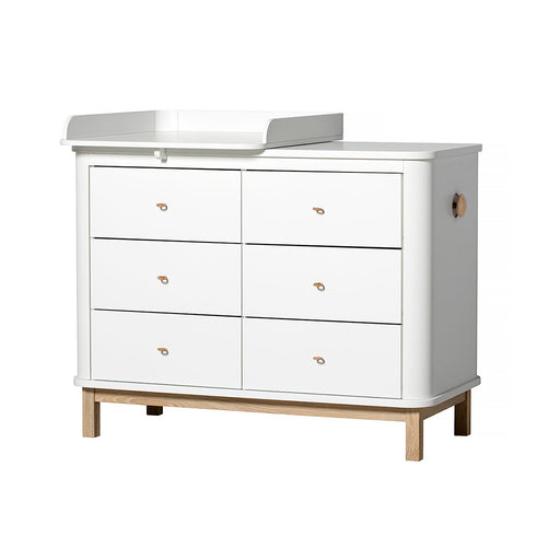 Oliver Furniture Wood Dresser 6 Drawers White/Oak - 2