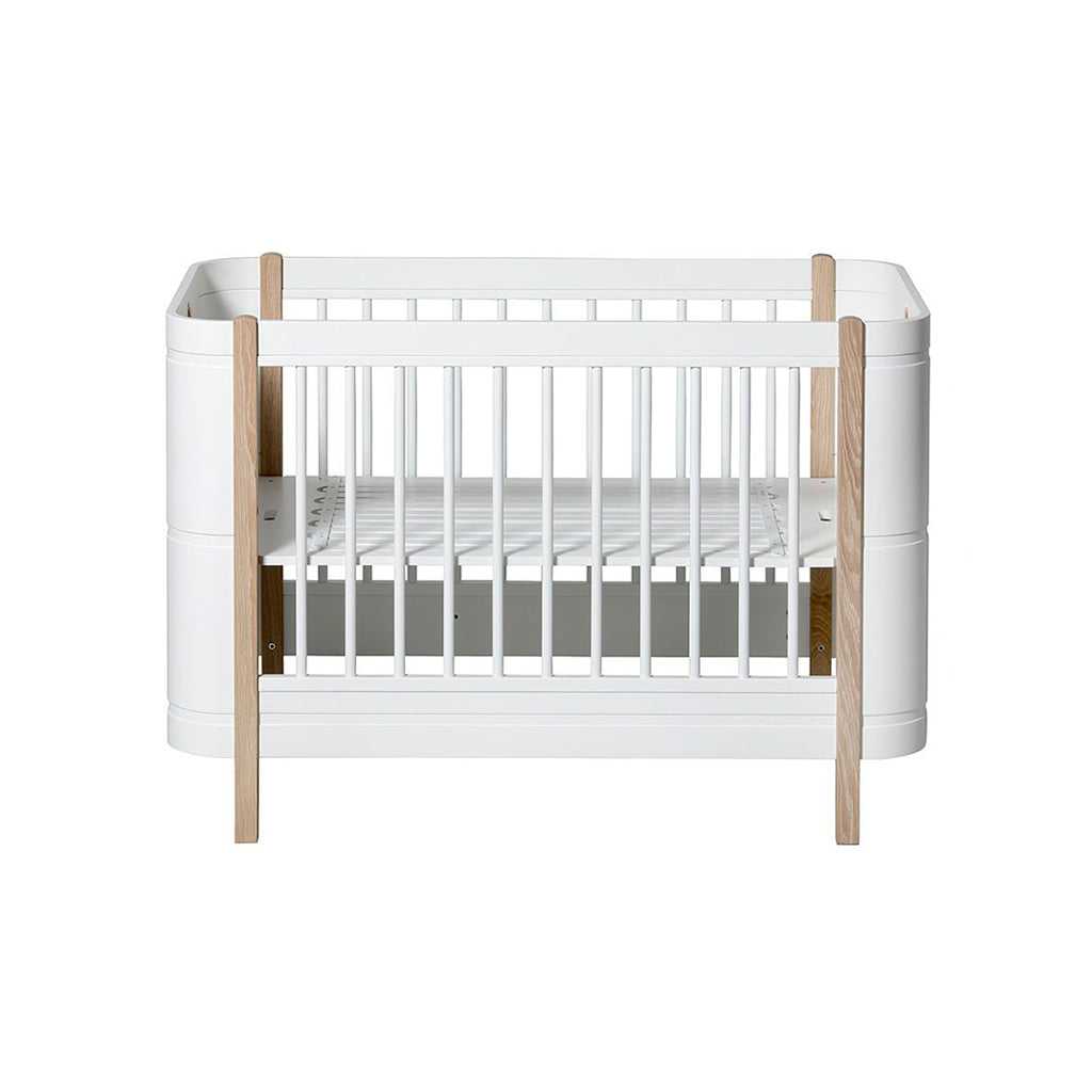 Oliver Furniture Wood Mini+ Cot Bed White/Oak - 1