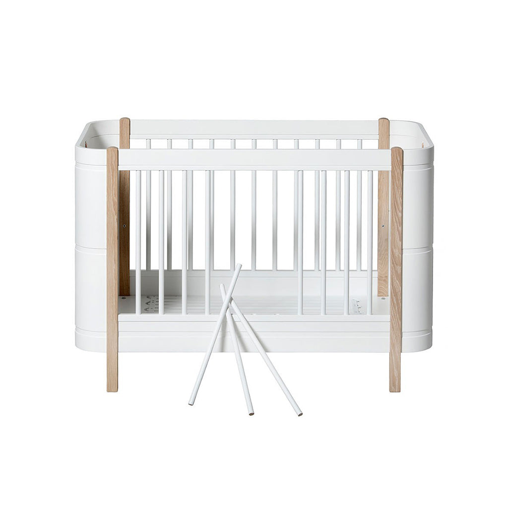 Oliver Furniture Wood Mini+ Cot Bed White/Oak - 2