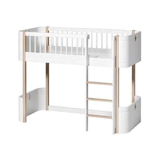 Oliver Furniture Wood Mini+ Low Loft Bed White/Oak - 2