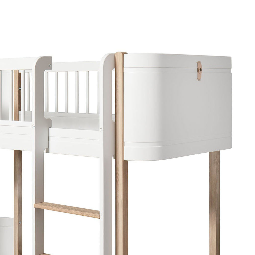Oliver Furniture Wood Mini+ Low Loft Bed White/Oak - 3