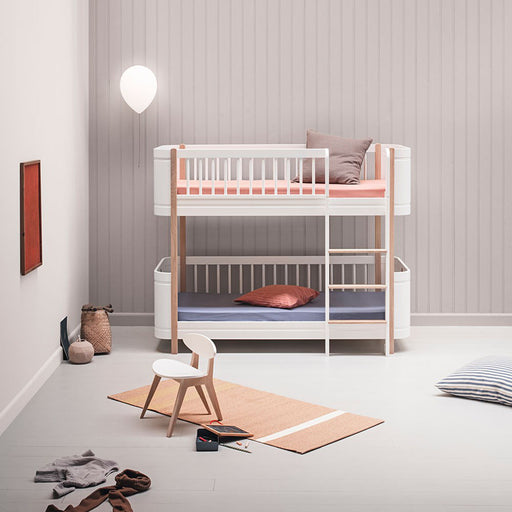 Oliver Furniture Wood Mini+ Low Bunk Bed White/Oak - 2