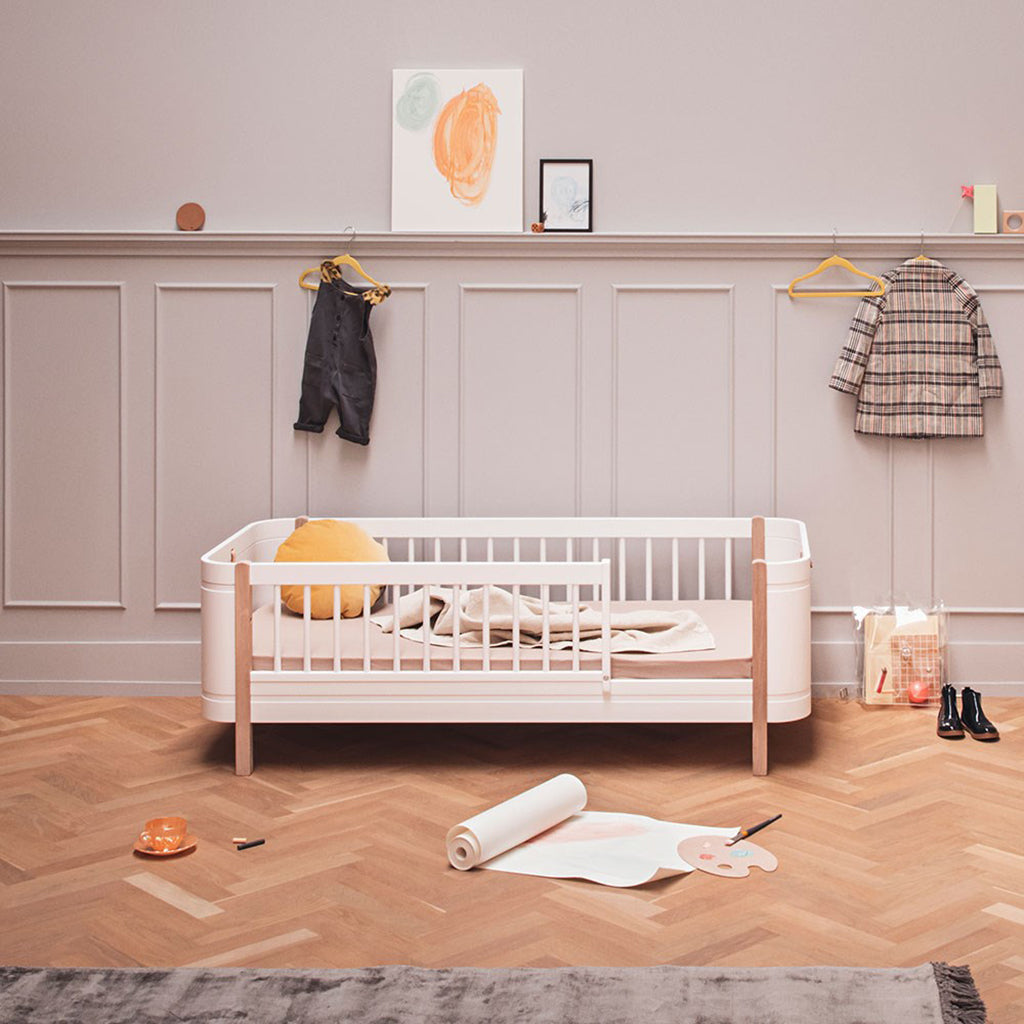 Oliver Furniture Wood Mini+ Cot Bed White/Oak - 6