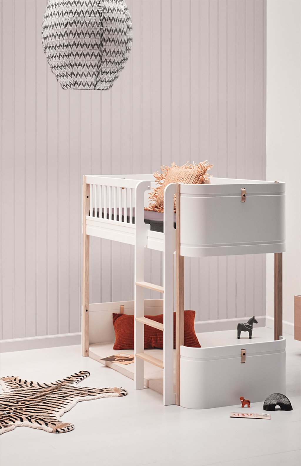 Oliver Furniture Wood Mini+ Low Loft Bed White/Oak - 5