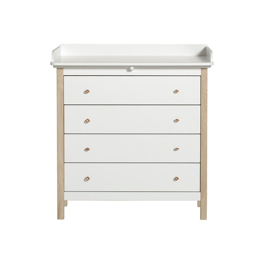 Oliver Furniture Wood Nursery Dresser with Nursery Plate