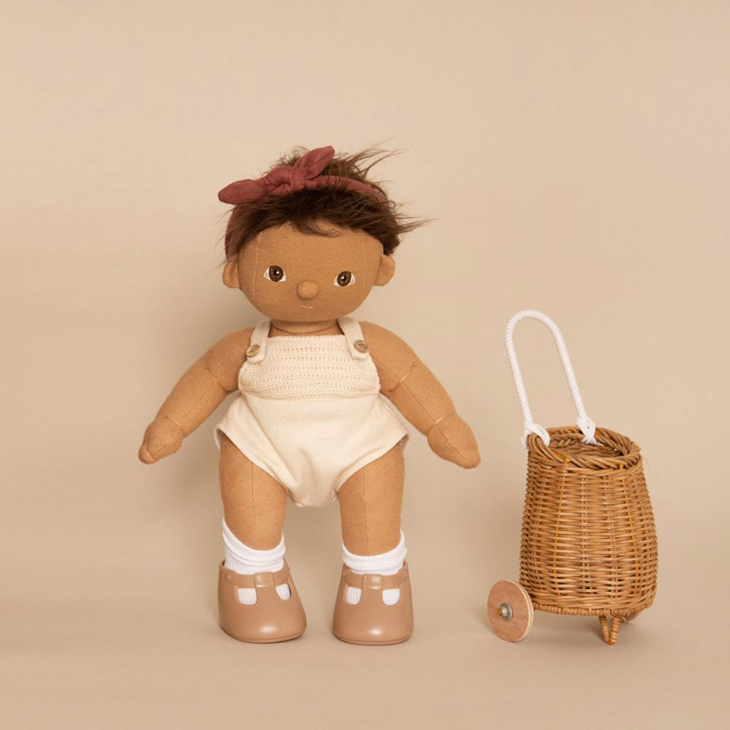 Olli Ella Doll Luggy Basket - Rose - 5