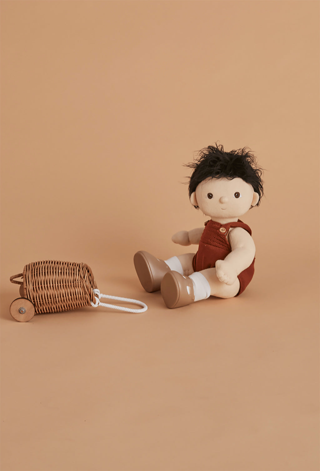 Olli Ella Doll Luggy Basket - Rose - 7