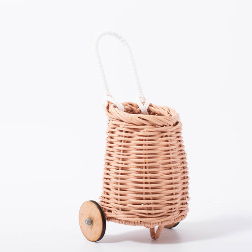 Olli Ella Doll Luggy Basket - Rose - 2