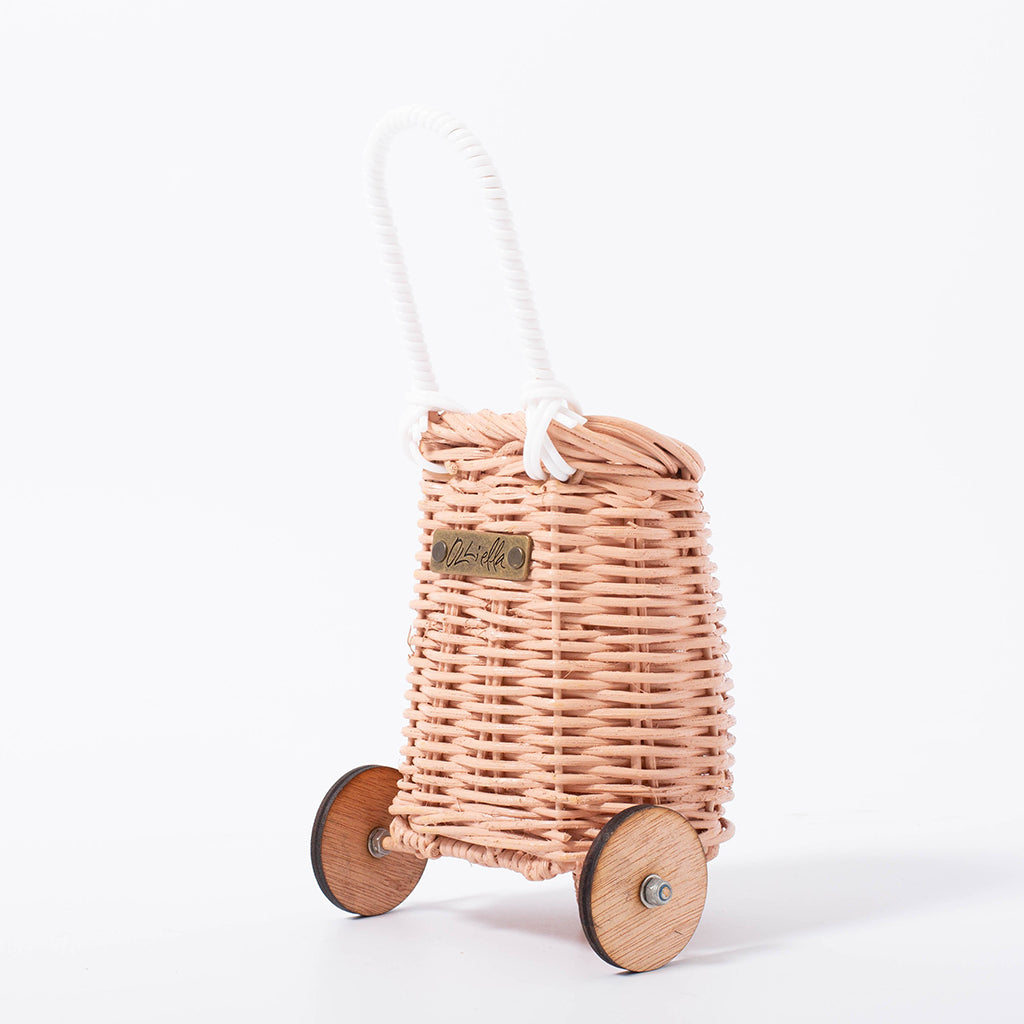 Olli Ella Doll Luggy Basket - Rose - 3