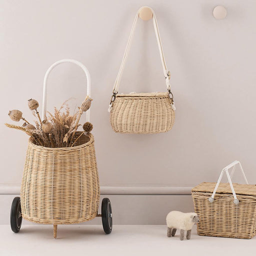 Olli Ella Luggy Basket - Straw - 2