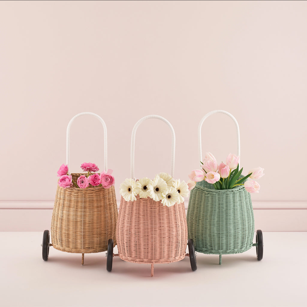 Olli Ella Luggy Basket - rose - 2
