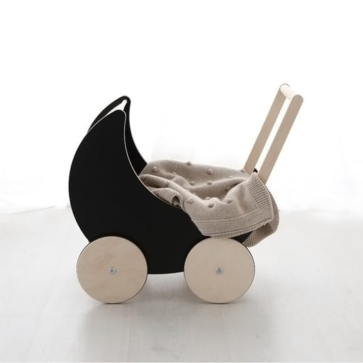 Ooh Noo Toy Pram - Black - 1