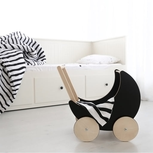 Ooh Noo Toy Pram - Black - 2