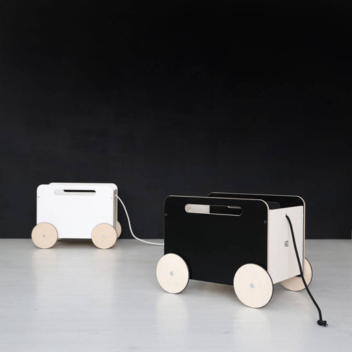 Ooh Noo Toy Chest On Wheel - Black - 2
