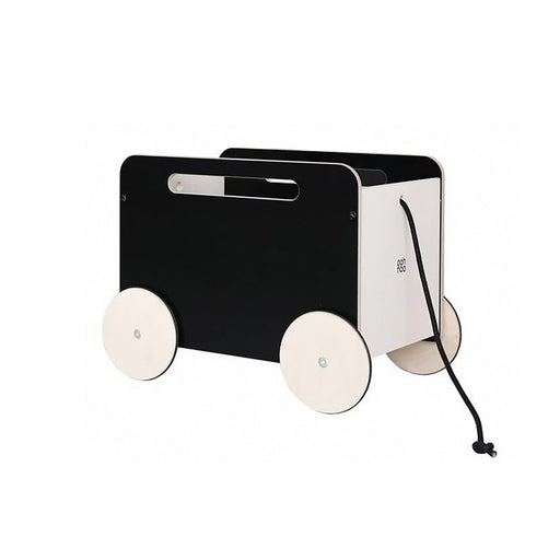 Ooh Noo Toy Chest On Wheel - Black -1