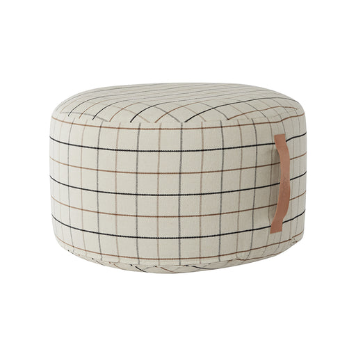 OYOY Grid Pouf - Off White - 1