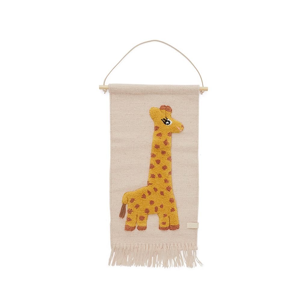 OYOY Giraffe Wall hanging - Rose - 1