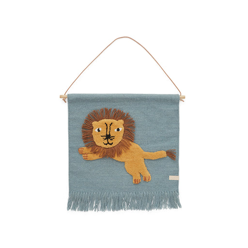 OYOY Jumping Lion Wall hanging - Tourmaline - 1