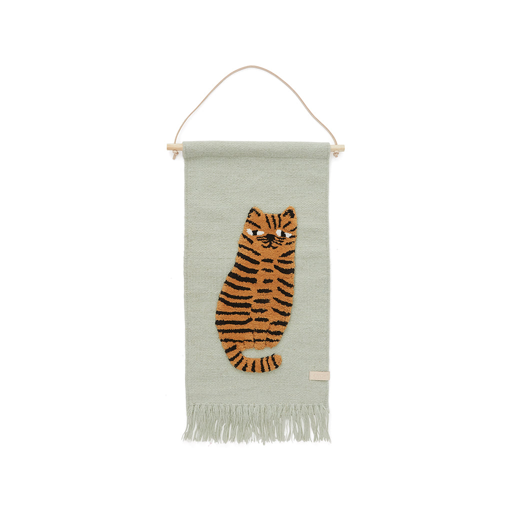 OYOY Tiger Wall hanging - Green - 1