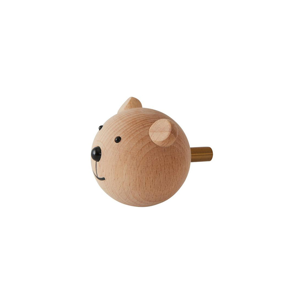 OYOY Wooden Mini Hook - Bear - 2