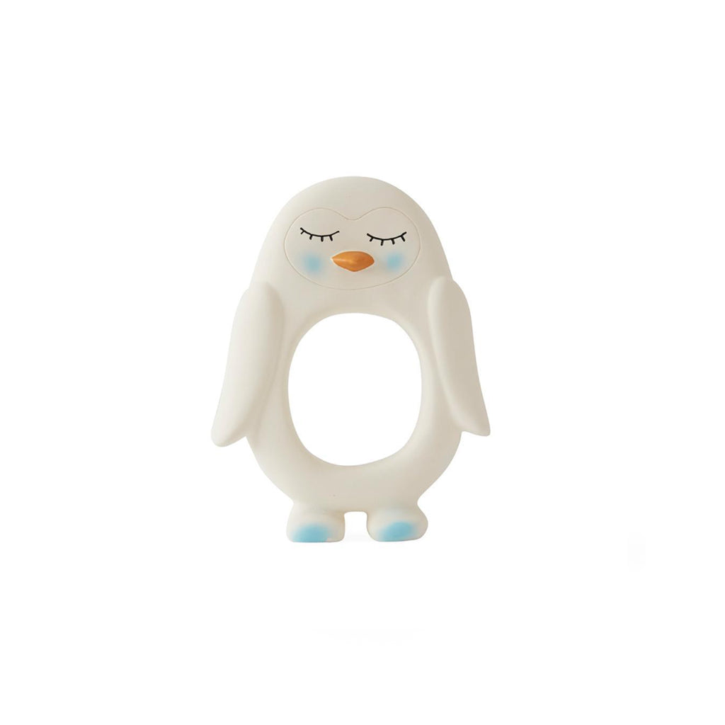 OYOY Penguin Baby Teether - Off White - 1