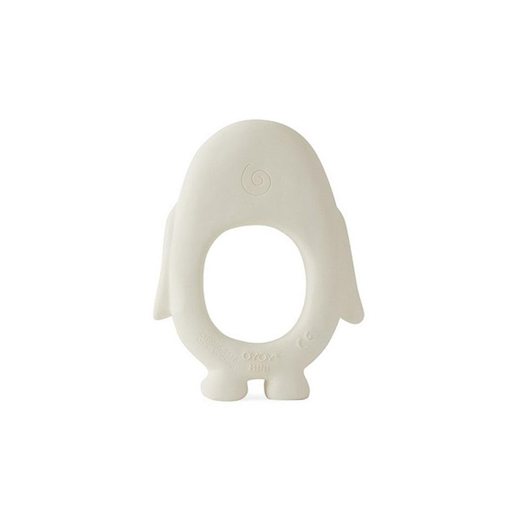 OYOY Penguin Baby Teether - Off White - 2