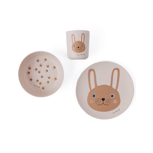 OYOY Rabbit Bamboo Tableware Set