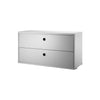 String Shelving System - Chest with 2 Drawers - 4