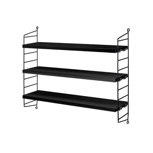 String Pocket Shelf Black 1