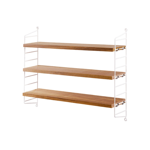 String Pocket shelf - White/Oak