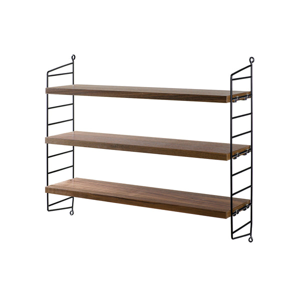 String Pocket Shelf - Walnut/Black