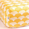 Swedish Linens Rainbows Fitted Sheet - Mustard Yellow - 1