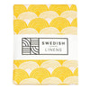 Swedish Linens Rainbows Fitted Sheet - Mustard Yellow - 2