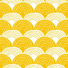 Swedish Linens Rainbows Fitted Sheet - Mustard Yellow - 3