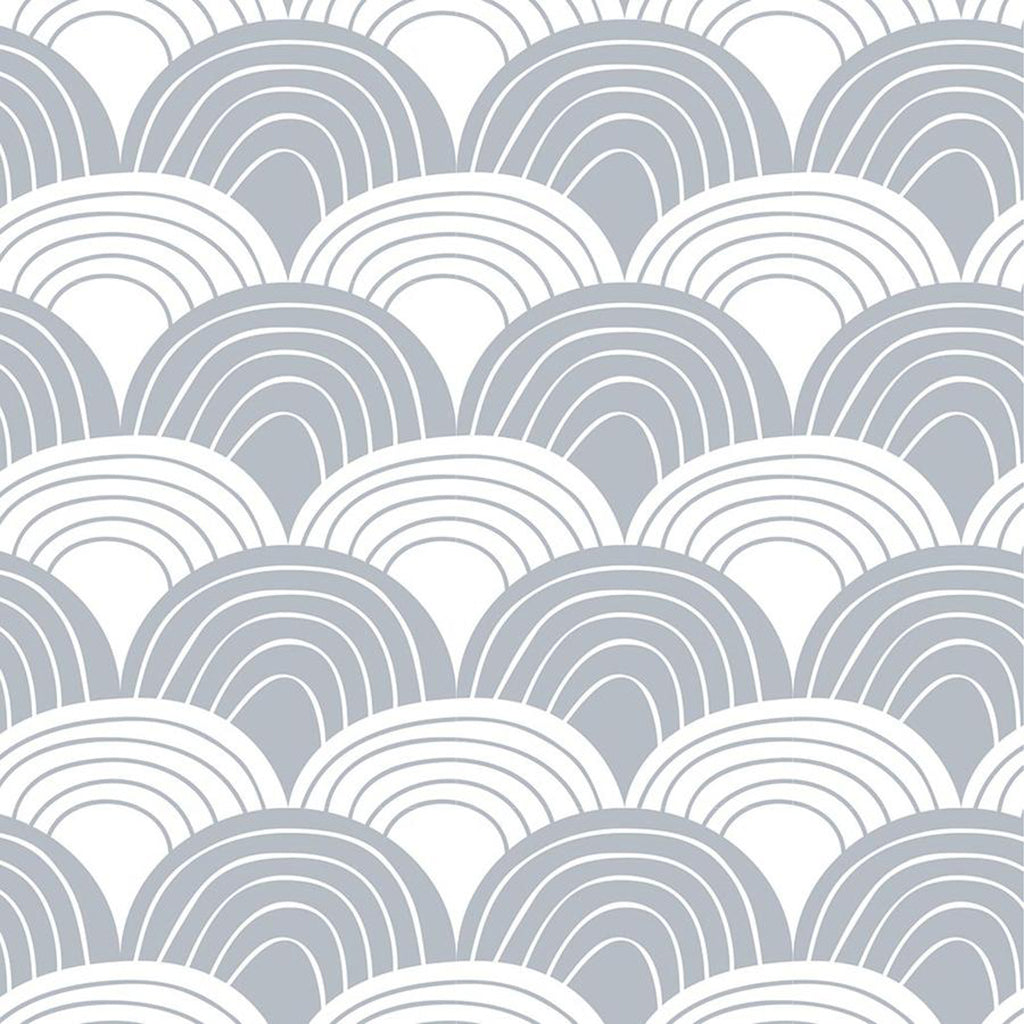 Swedish Linens Rainbows Fitted Sheet - Tranquil Grey - 3