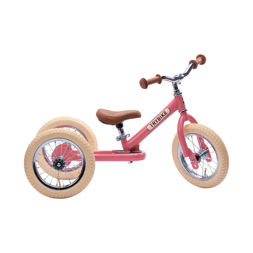 Trybike 2 in 1 Steel Bike/Trike - Vintage Pink - 1