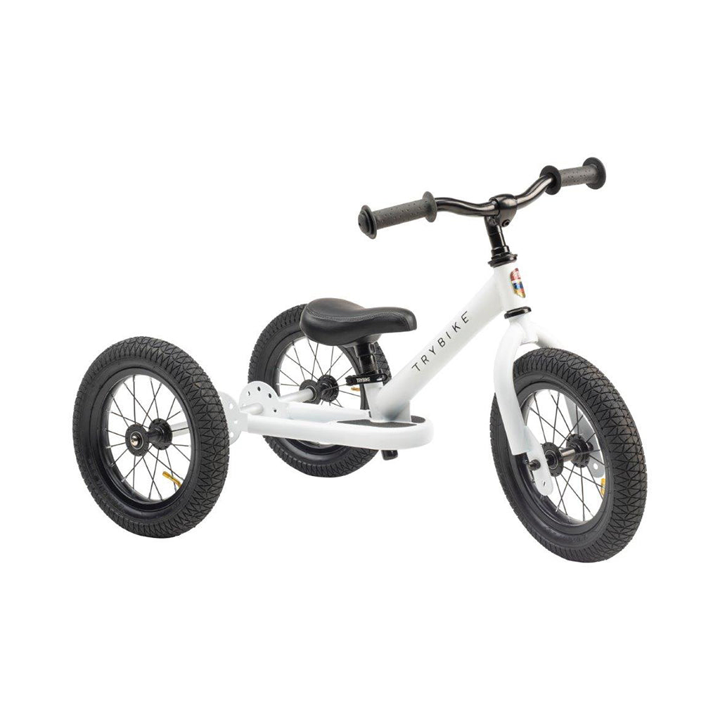 Trybike 2 in 1 Steel Bike/Trike - White - 1