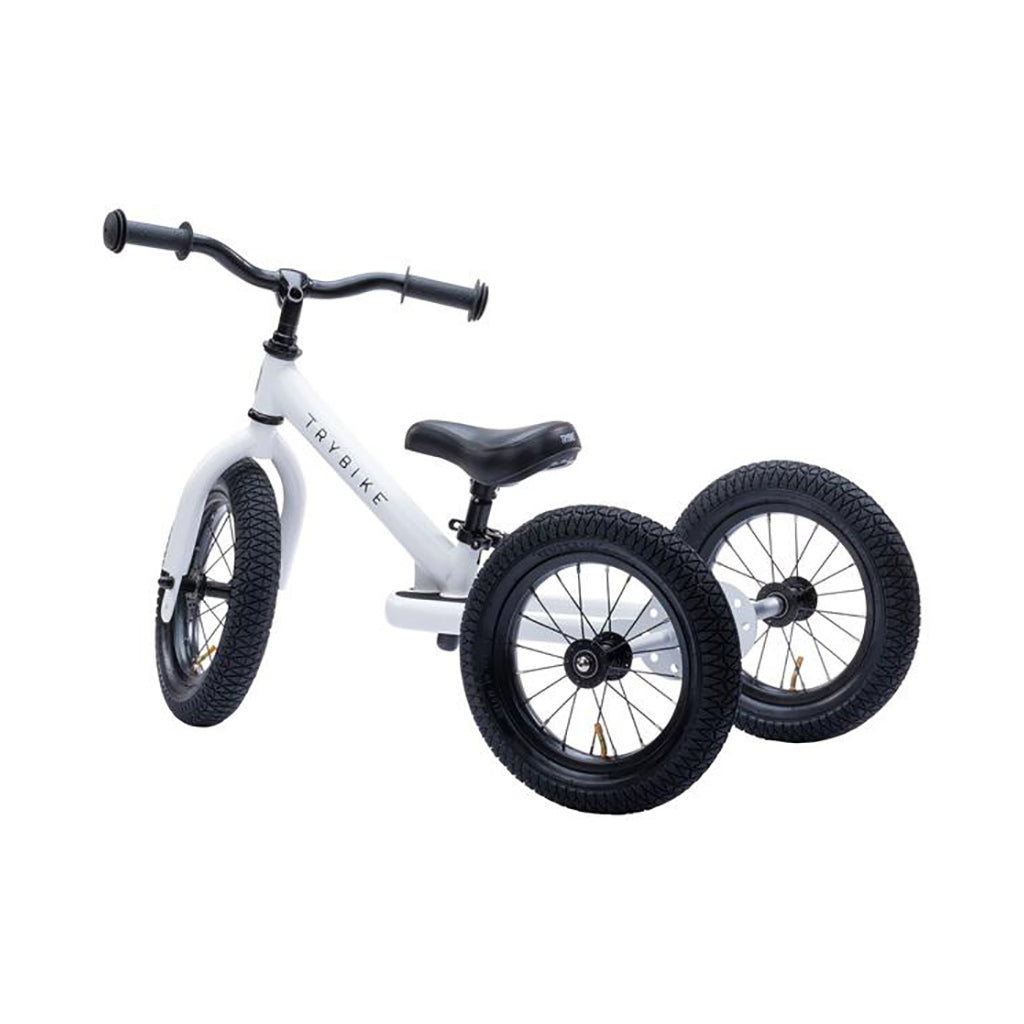 Trybike 2 in 1 Steel Bike/Trike - White - 2