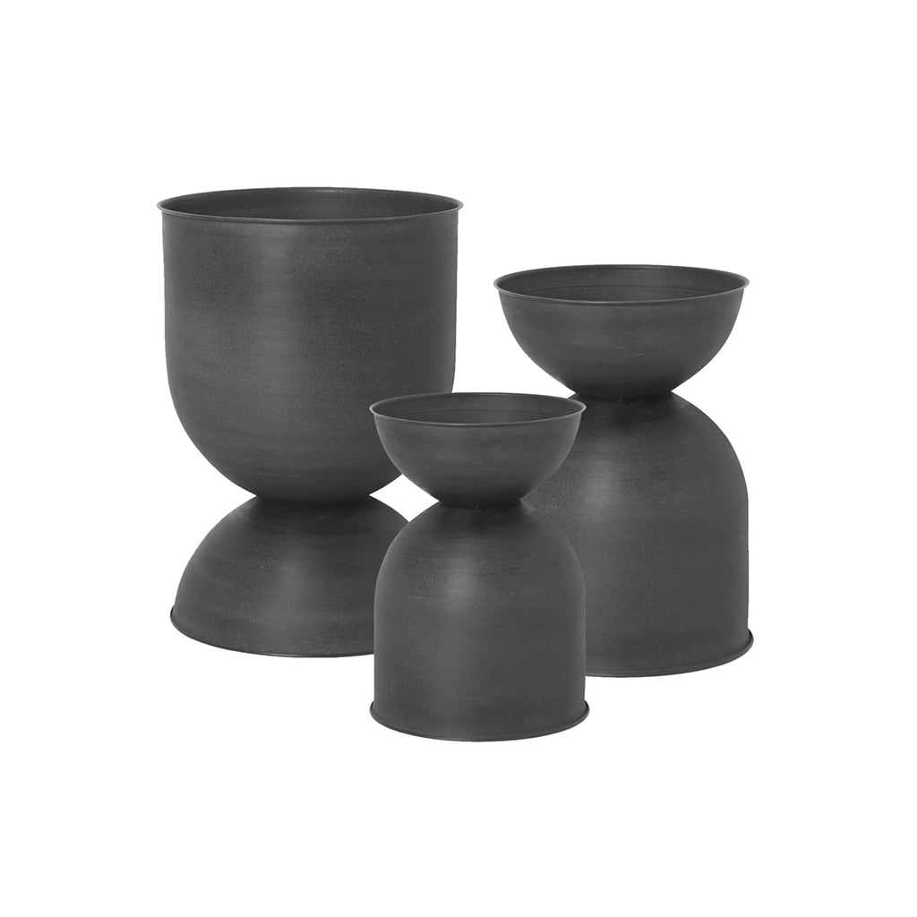 Ferm Living Hourglass Pot - Black - 1
