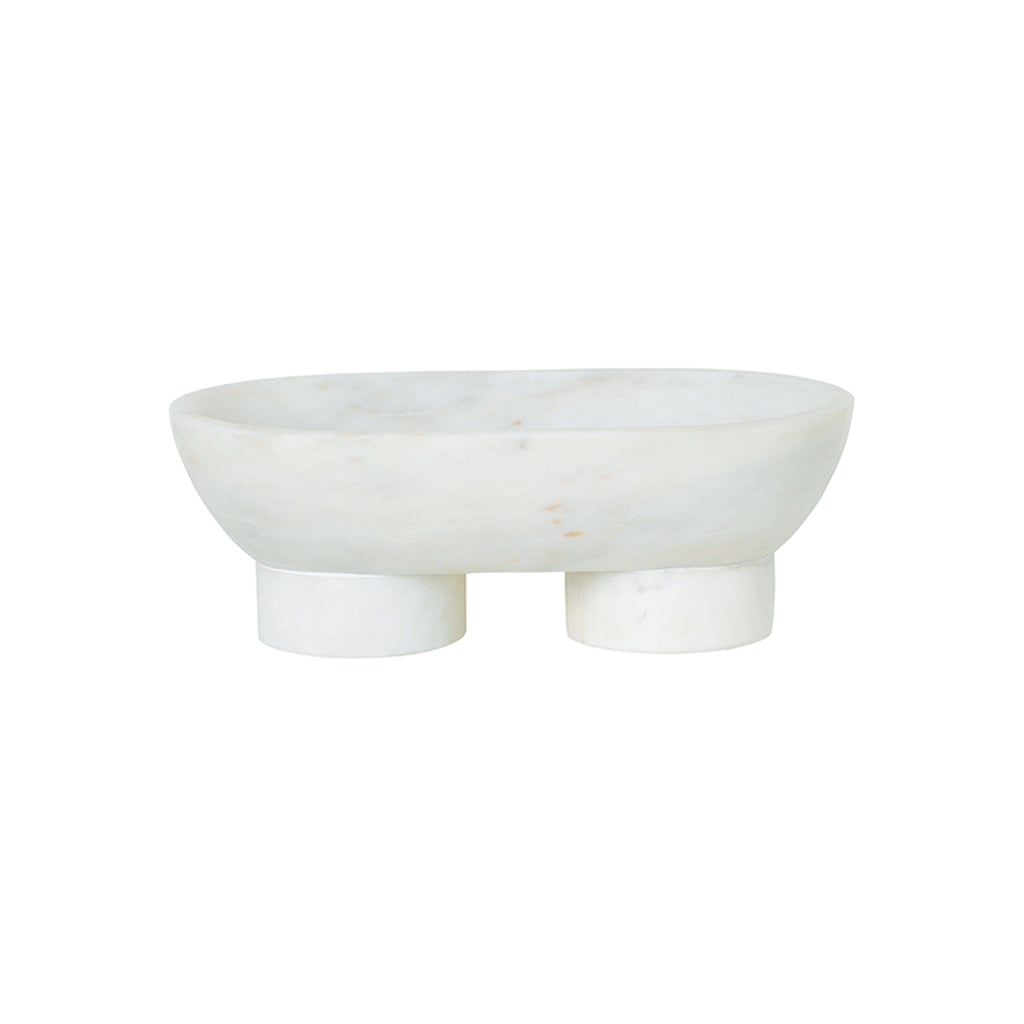 Ferm Living Alza Bowl - White Marble - 1