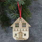 5 x Woodsman's Lodge Tree Decorations / Gift Tags