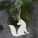 5 x Fox Tree Decorations / Gift Tags