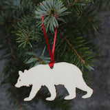 5 x Bear Tree Decorations / Gift Tags